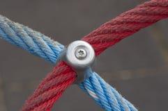 Rot und Blau ropes Nahaufnahme Lizenzfreies Stockfoto