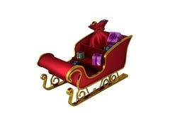 Rot und Gold-Sankt-Pferdeschlitten Stockfoto