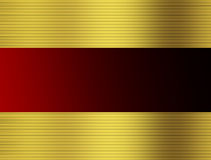 Rot und Gold striped Stockfotos