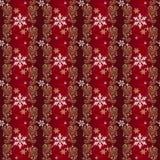 Rot und Gold-und Silber-Weihnachtsverpackungspapier Stockbild