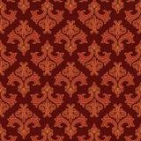 Rot und Goldgotisches Muster Stockbild