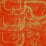 Rot und Goldhintergrund oder -tapete vektor abbildung