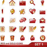 Rot- und Goldikonen stellten 1 ein stock abbildung