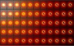 Rot und Goldvektorauszugshintergrund Lizenzfreies Stockbild
