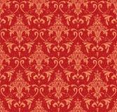 Rot und Goldverzierung Stockfoto