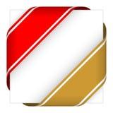 Rot und Goldweihnachtseckenbänder Stockfotografie
