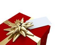 Rot und Goldweihnachtsgeschenk Stockbilder