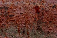Rot- und Grey Metal-Beschaffenheit entziehen Sie Hintergrund Lizenzfreie Stockfotografie