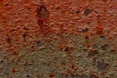 Rot- und Grey Metal-Beschaffenheit entziehen Sie Hintergrund Stockbilder