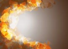 Rot und Orange färbt Efeublattnahaufnahme Lizenzfreie Stockfotos