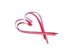 Rot- und Rosareißverschluß in Form von Herzen Stockfotos