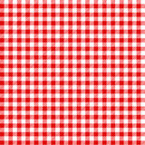 Rot und Weiß überprüften kariertes Picknick des Tischdeckenmusters Stockfotos
