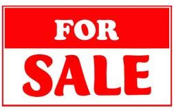 Rot und weiß für Verkaufs-Zeichen Stockbild