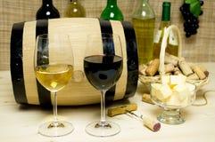Rot und Weißwein, Weinbrand Lizenzfreie Stockbilder