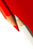 Rot und Whitel Bleistifte Stockfotografie