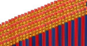Rot und zensiert in den Reihen Lizenzfreies Stockbild