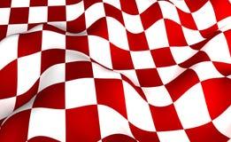 Rot-weiße Fläche Lizenzfreie Stockfotografie