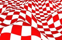 Rot-weiße Fläche Lizenzfreies Stockfoto