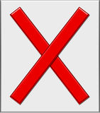 Rot x stock abbildung