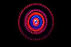 Rotação abstrata da luz do diodo emissor de luz na obscuridade imagens de stock