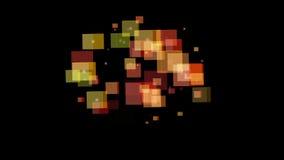 Rotação abstrata do cubo ilustração stock