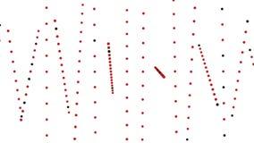 Rotação aleatória vermelha abstrata do teste padrão de pontos no branco ilustração stock
