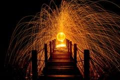 Rotação clara do fogo Imagens de Stock Royalty Free