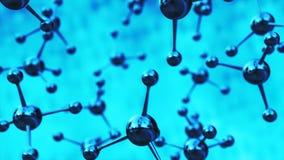 Rotação da animação da molécula modelo ilustração stock