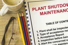 Rotação da manutenção de planta foto de stock