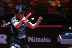 Rotação da parte superior de HIRANO Miu contra Ding Ning fotos de stock