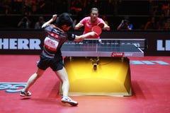 Rotação da parte superior de HIRANO Miu contra Ding Ning foto de stock