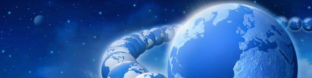 Rotação da terra ilustração royalty free