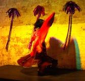 Rotação de dançarino de barriga imagem de stock
