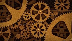 Rotação de Steampunk das engrenagens ilustração do vetor