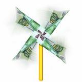 Rotação do dinheiro Fotos de Stock Royalty Free
