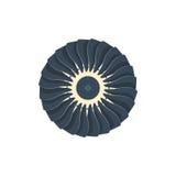 Rotação do fã da hélice dos ícones das turbinas Imagem de Stock Royalty Free