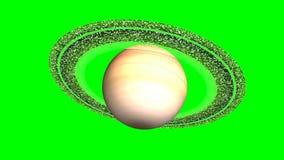 Rotação do planeta Saturn ilustração royalty free