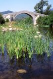 Rotação Genoese da ponte um Cavallu em Córsega foto de stock royalty free