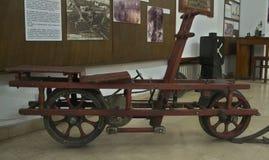 Rotação railway do vintage velho indicada no museu imagem de stock