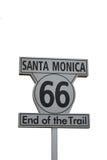 Rota 66 de Santa Monica Fotos de Stock