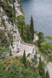 Rota cênico de Gardesana Occidentale, Itália foto de stock royalty free