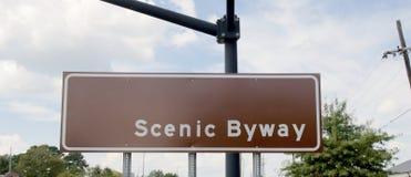 Rota cênico do Byway Imagem de Stock