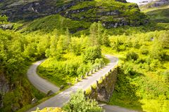 Rota cênico norueguesa foto de stock royalty free