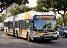 Rota de ônibus da alameda de Kahala na rua do rei Foto de Stock