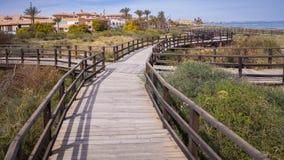 Rota de passeio do passeio à beira mar da reserva natural Fotografia de Stock