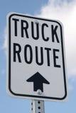 Rota do caminhão Fotografia de Stock Royalty Free