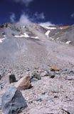 Rota do Gulch da avalancha no vulcão de Shasta da montagem Imagem de Stock Royalty Free