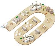 Rota do Haj ilustração stock