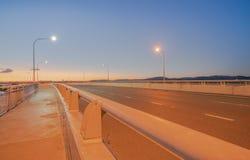 Rota do transporte da ponte do porto de Tauranga imagem de stock