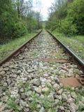 Rota do trem através da montanha fotos de stock